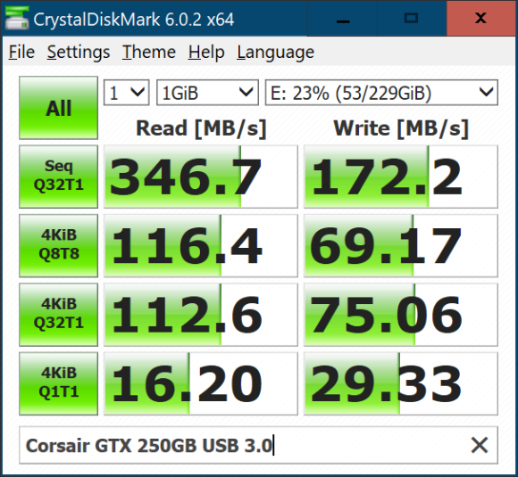 Corsair GTX 250GB USB 3.0