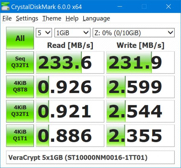 VeraCrypt 5x1GB (ST10000NM0016-1TT01)